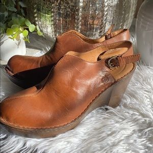 Born Hand Crafted Footwear Strap Leather Wedge